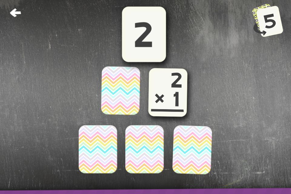 Multiplication Flash Cards Games Fun Math Practice 1.8 Screenshot 2