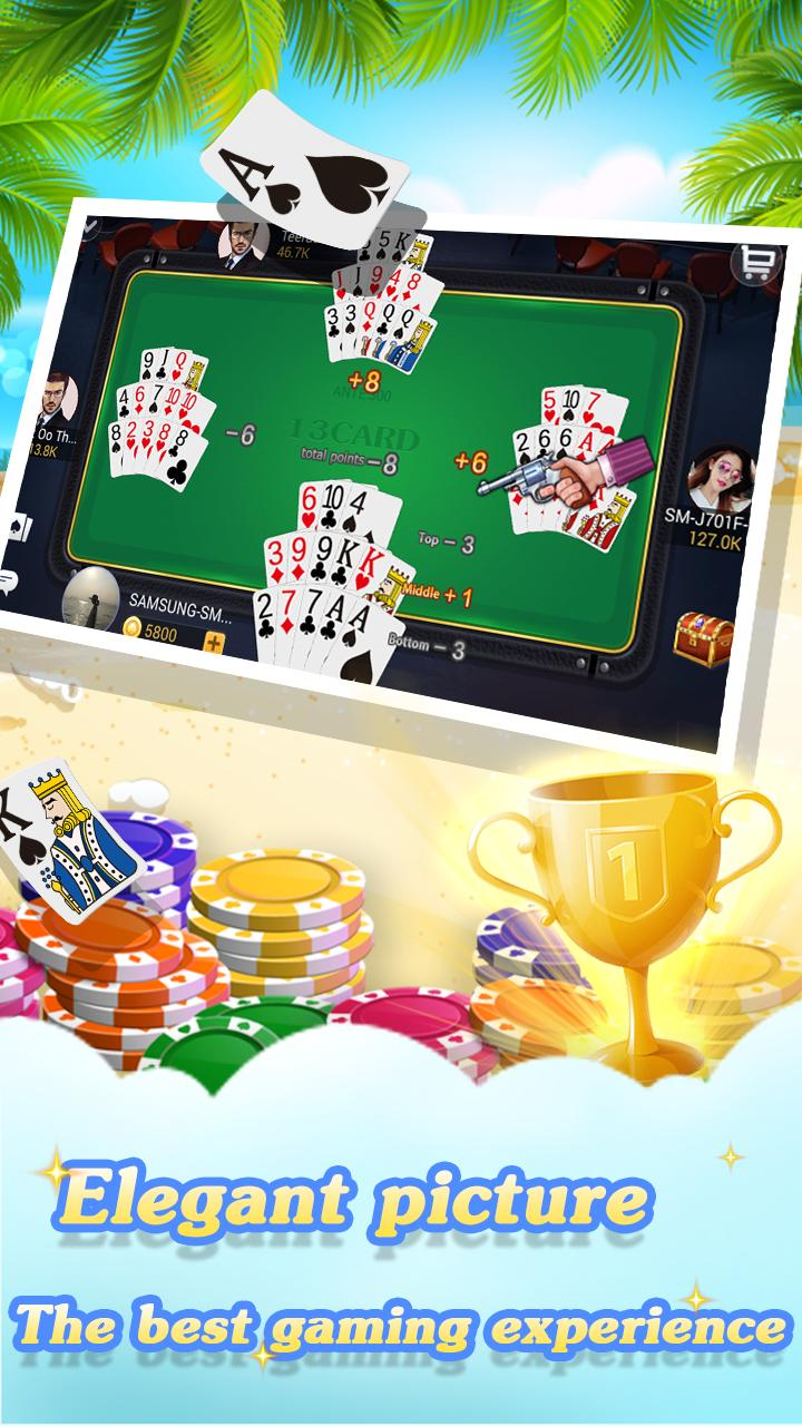 Chinese poker - Pusoy, Capsa susun, Free 13 poker 1.0.0.23 Screenshot 2