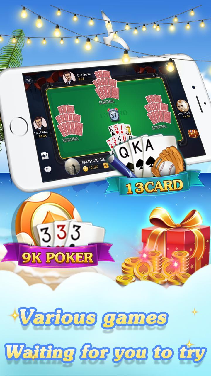 Chinese poker - Pusoy, Capsa susun, Free 13 poker 1.0.0.23 Screenshot 3