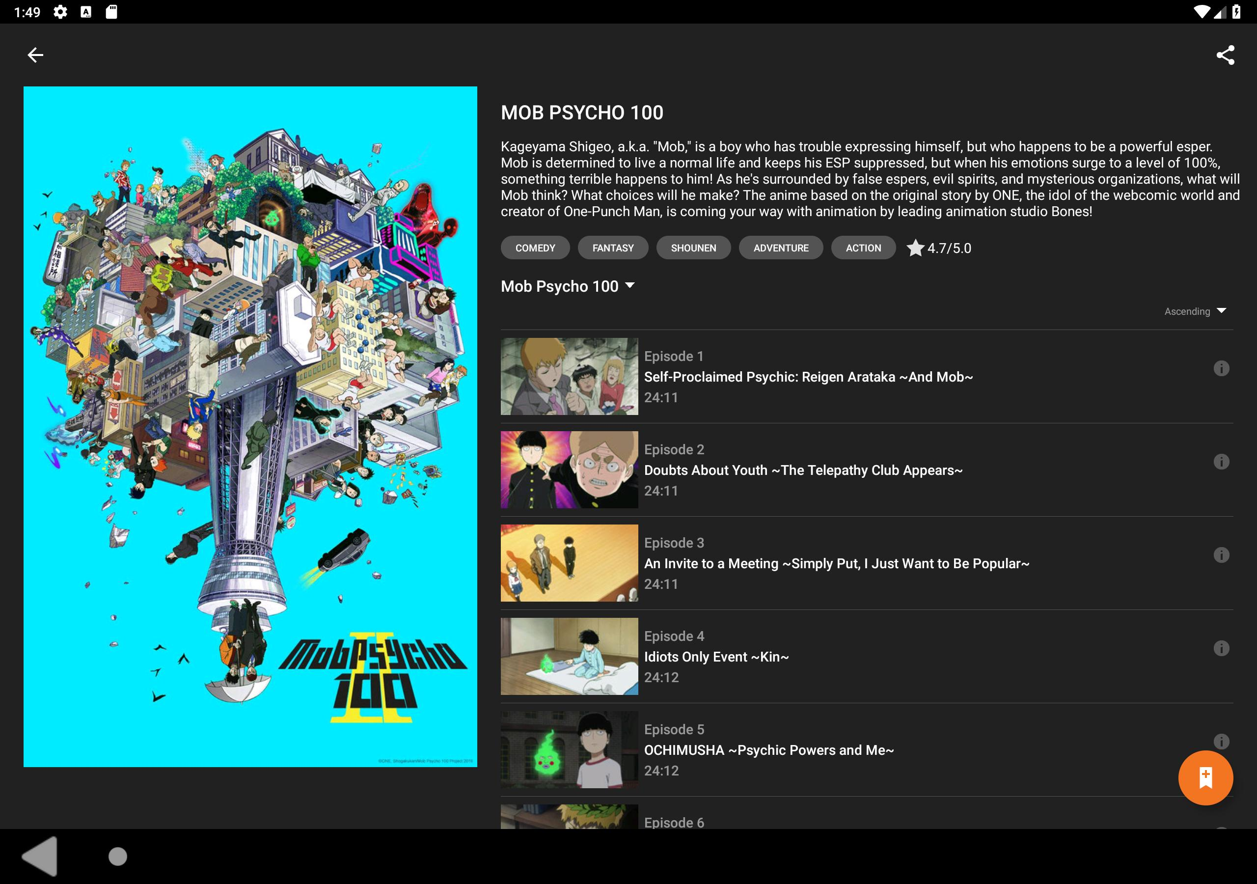Crunchyroll 2.6.0 Screenshot 9