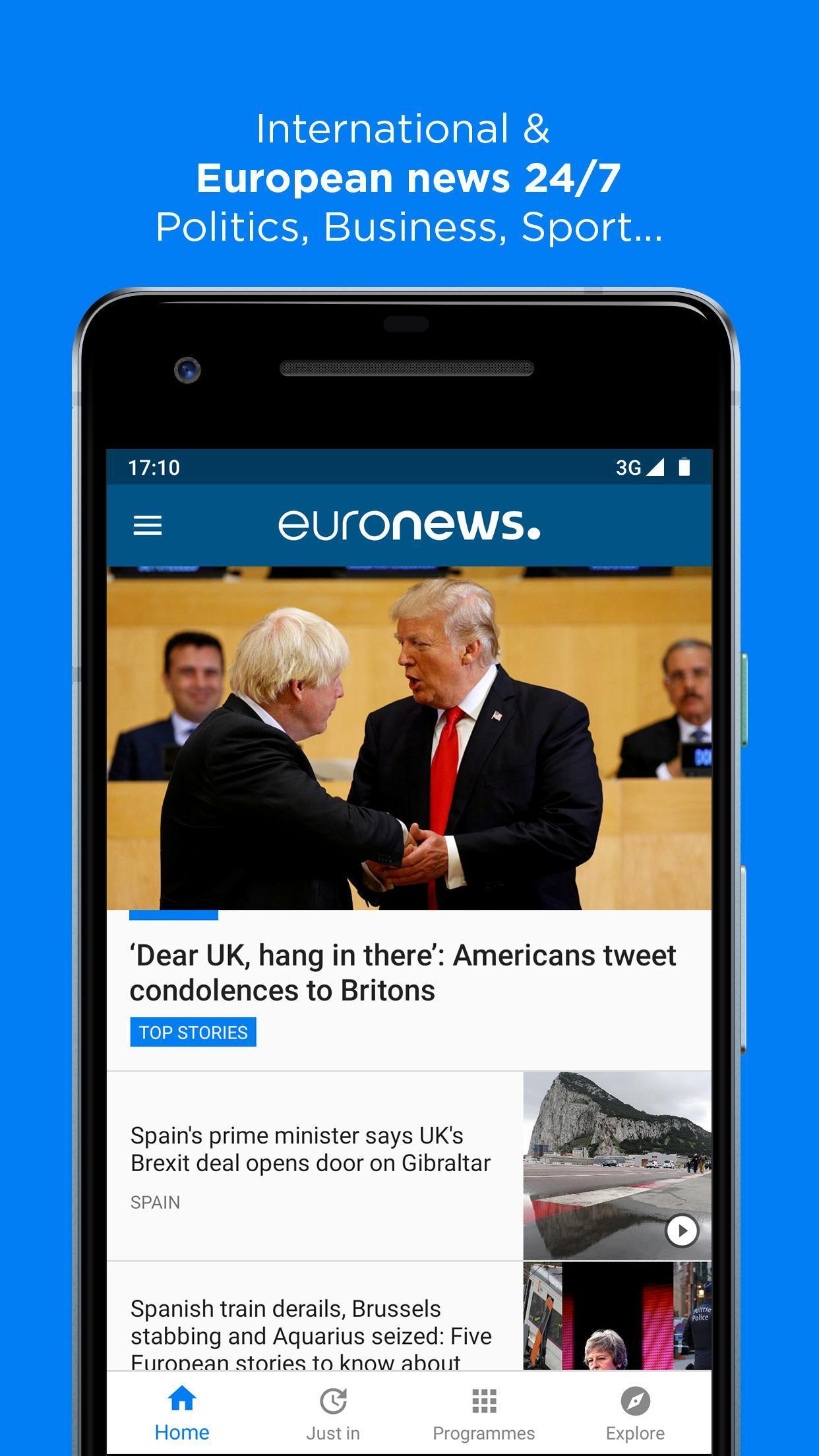 Euronews Daily breaking world news & Live TV 5.2.1 Screenshot 1