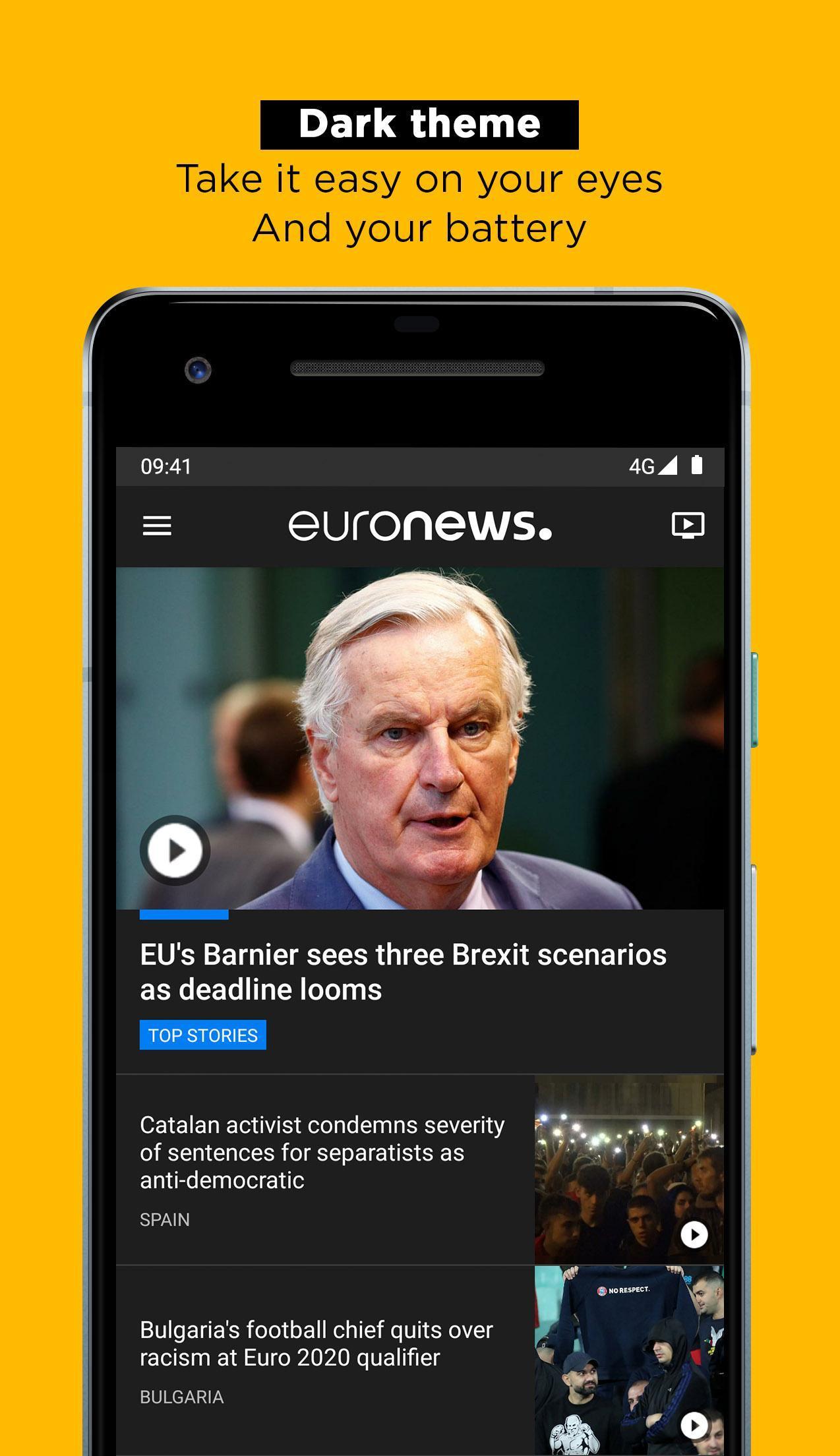 Euronews Daily breaking world news & Live TV 5.2.1 Screenshot 2