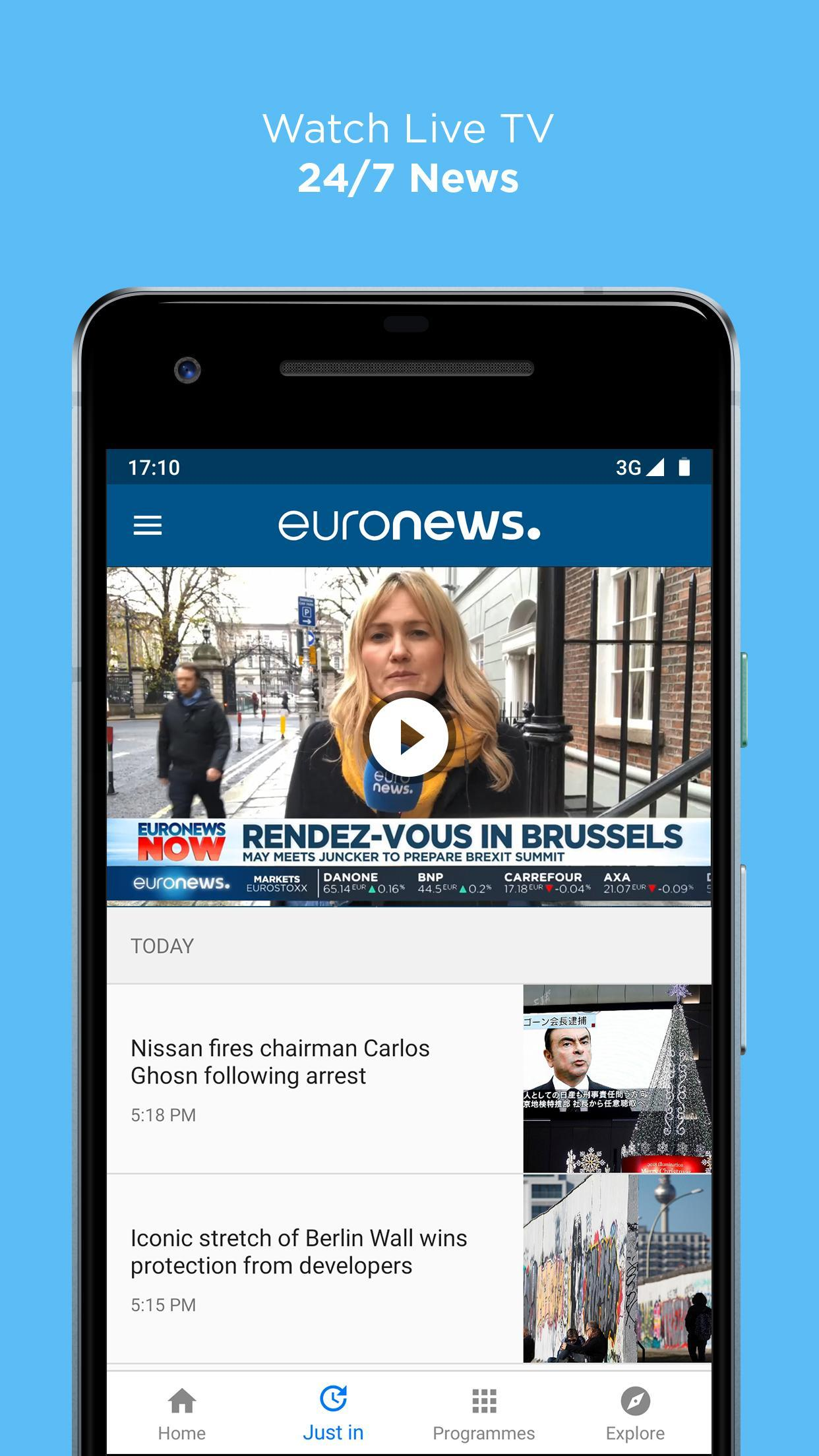 Euronews Daily breaking world news & Live TV 5.2.1 Screenshot 3