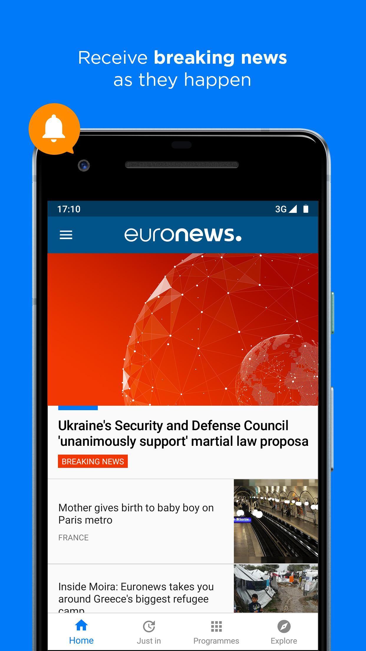 Euronews Daily breaking world news & Live TV 5.2.1 Screenshot 5