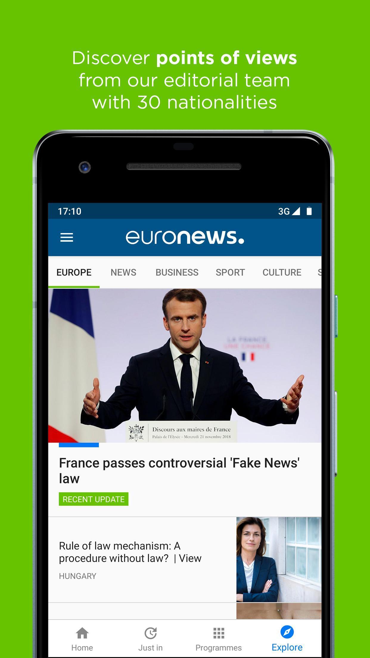 Euronews Daily breaking world news & Live TV 5.2.1 Screenshot 8