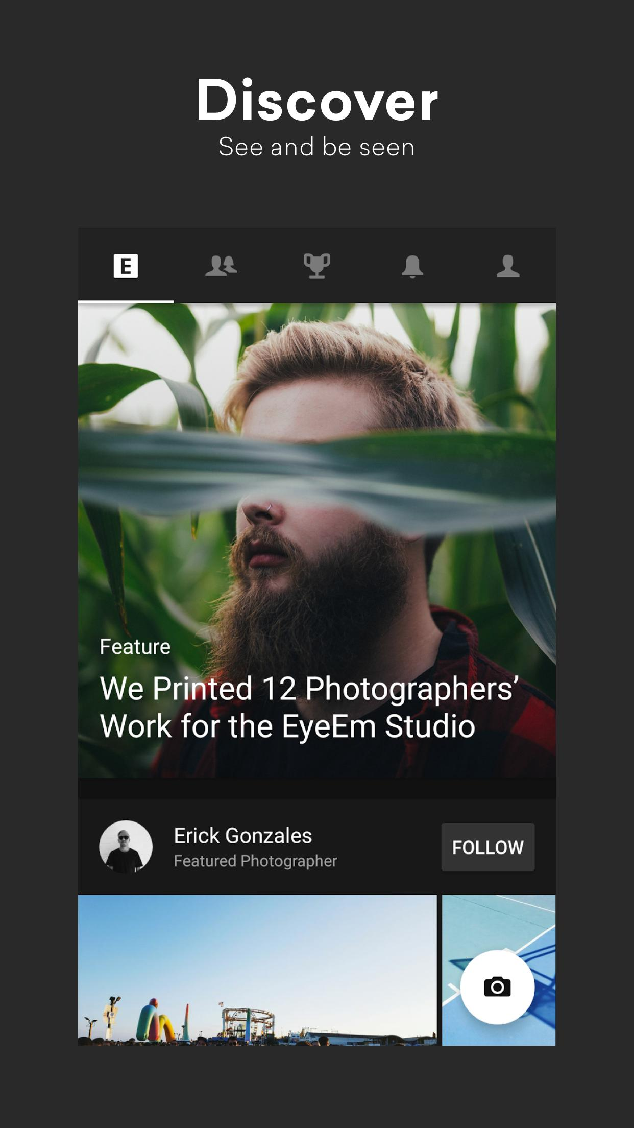 EyeEm Free Photo App For Sharing & Selling Images 8.1 Screenshot 1