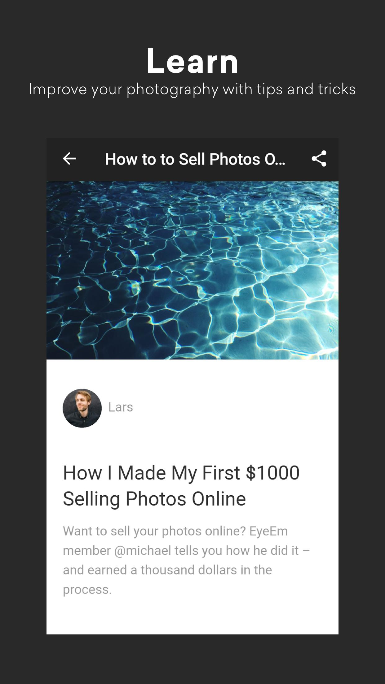 EyeEm Free Photo App For Sharing & Selling Images 8.1 Screenshot 5