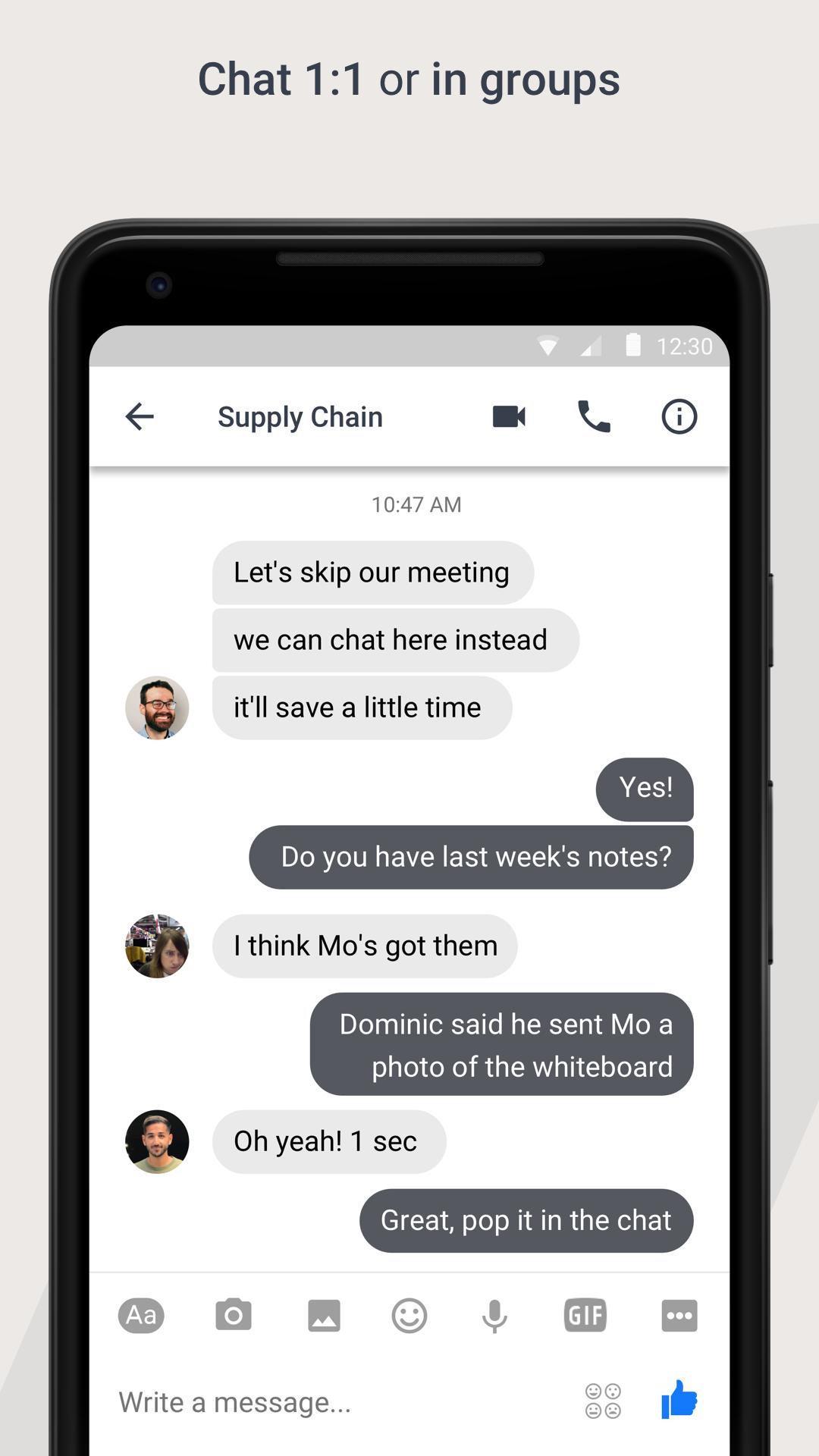 Workplace Chat by Facebook 247.0.0.9.117 Screenshot 2