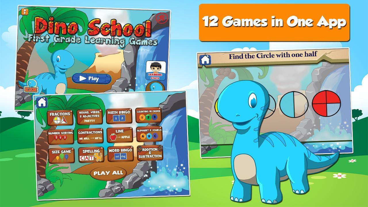 Dino 1st Grade Learning Games 3.15 Screenshot 1