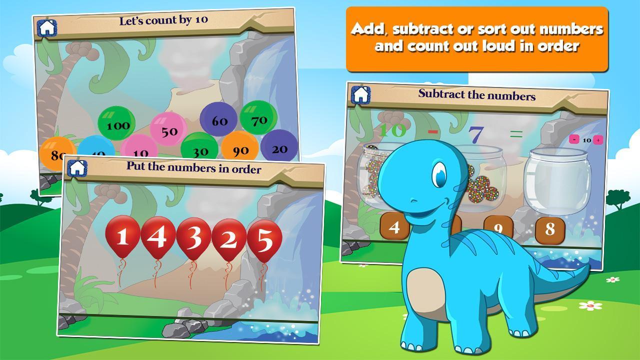 Dino 1st Grade Learning Games 3.15 Screenshot 2