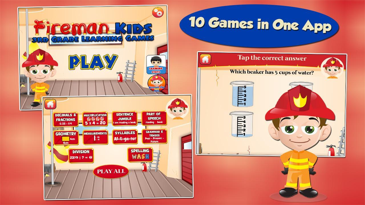 Fireman Kids 3rd Grade Games 3.16 Screenshot 1