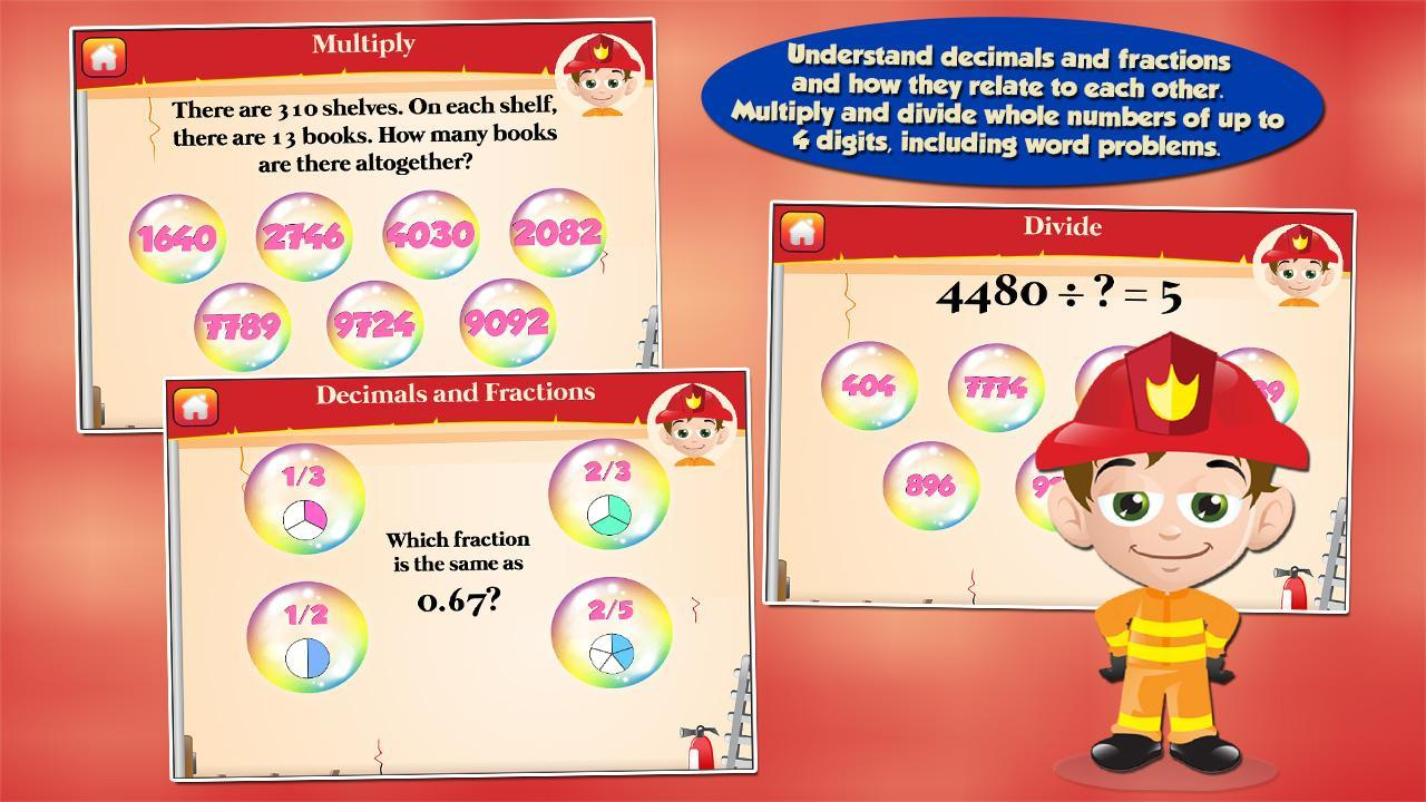 Fireman Kids 3rd Grade Games 3.16 Screenshot 2