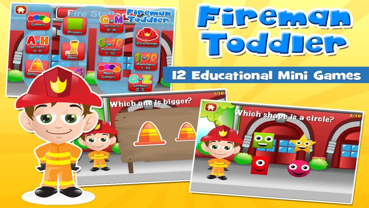 Fireman Toddler School Free 3.15 Screenshot 1
