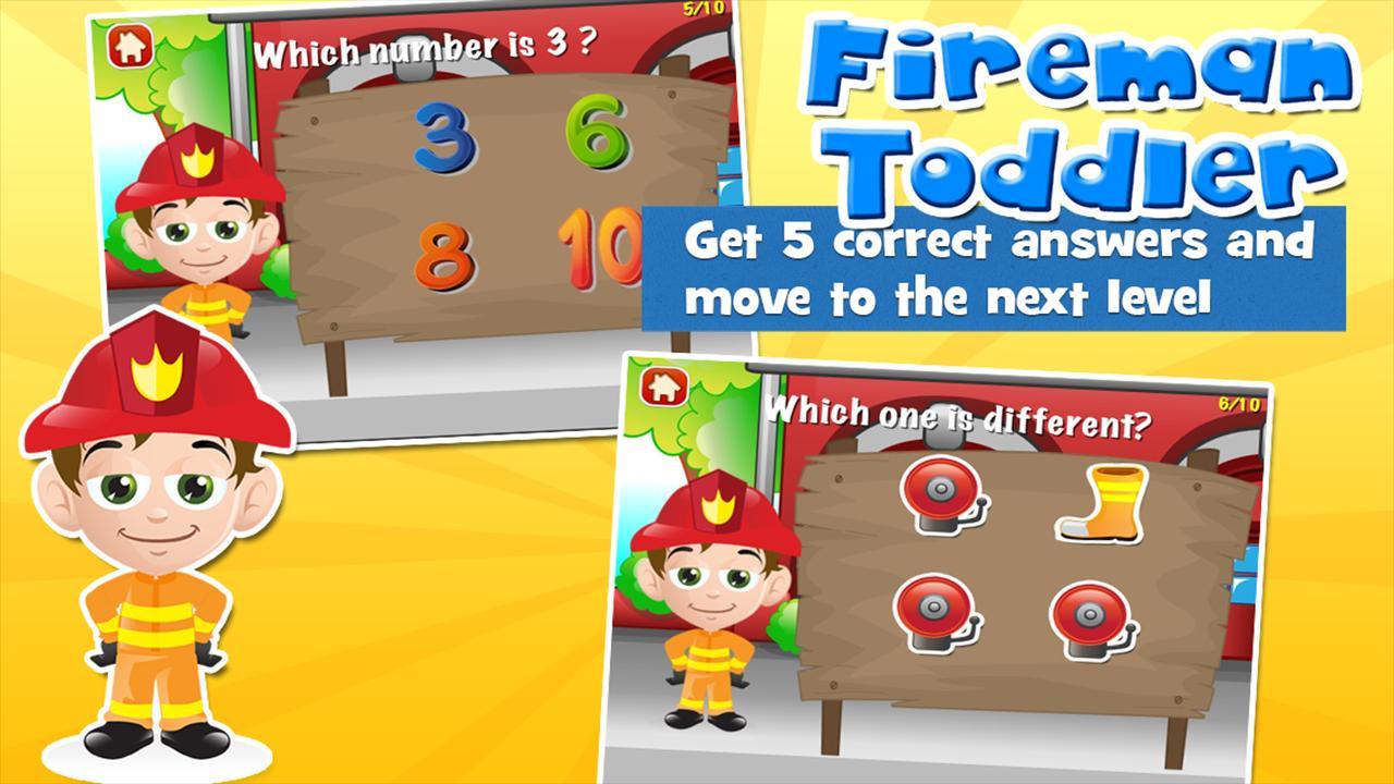 Fireman Toddler School Free 3.15 Screenshot 3