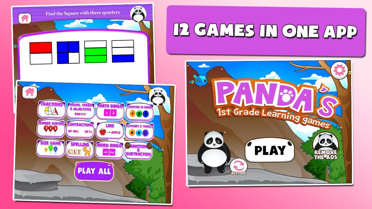 Panda 1st Grade Learning Games 3.15 Screenshot 1