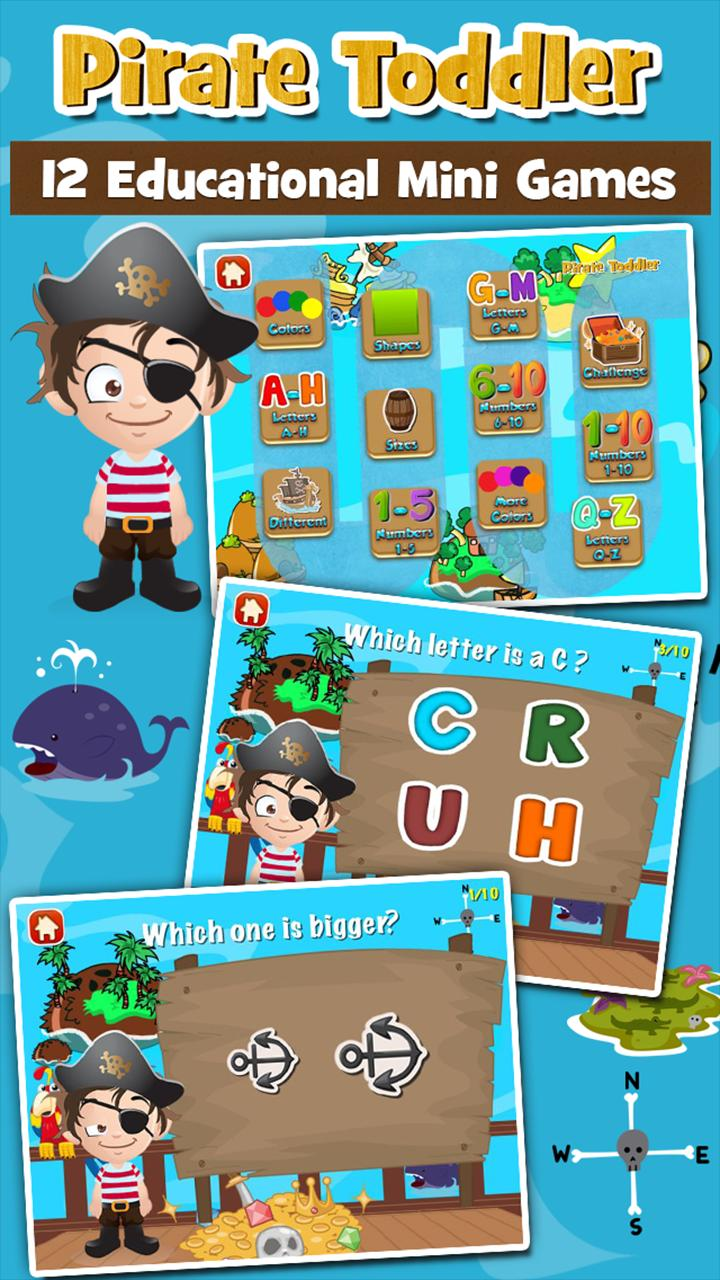Pirate Toddler Kids Games Free 3.15 Screenshot 1