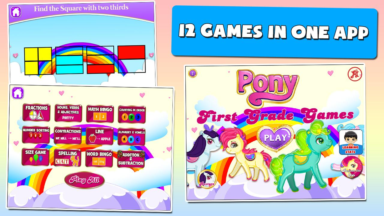 Pony Games for First Graders 3.15 Screenshot 1