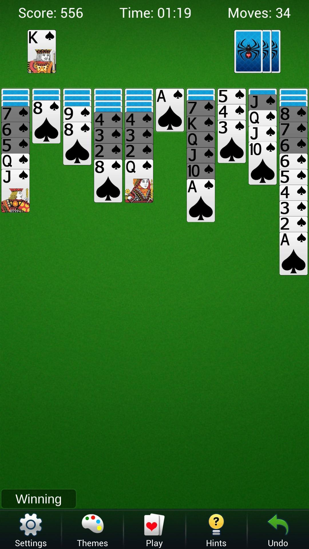 Spider Solitaire - Best Classic Card Games 1.6 Screenshot 1