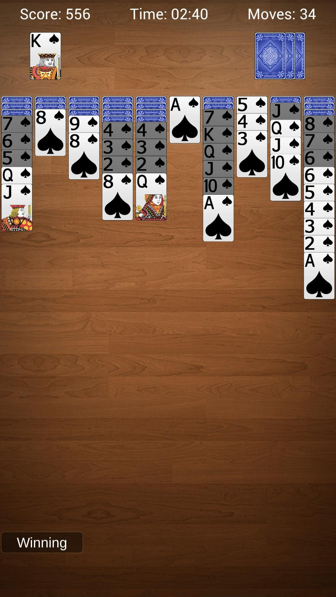 Spider Solitaire - Best Classic Card Games 1.6 Screenshot 5