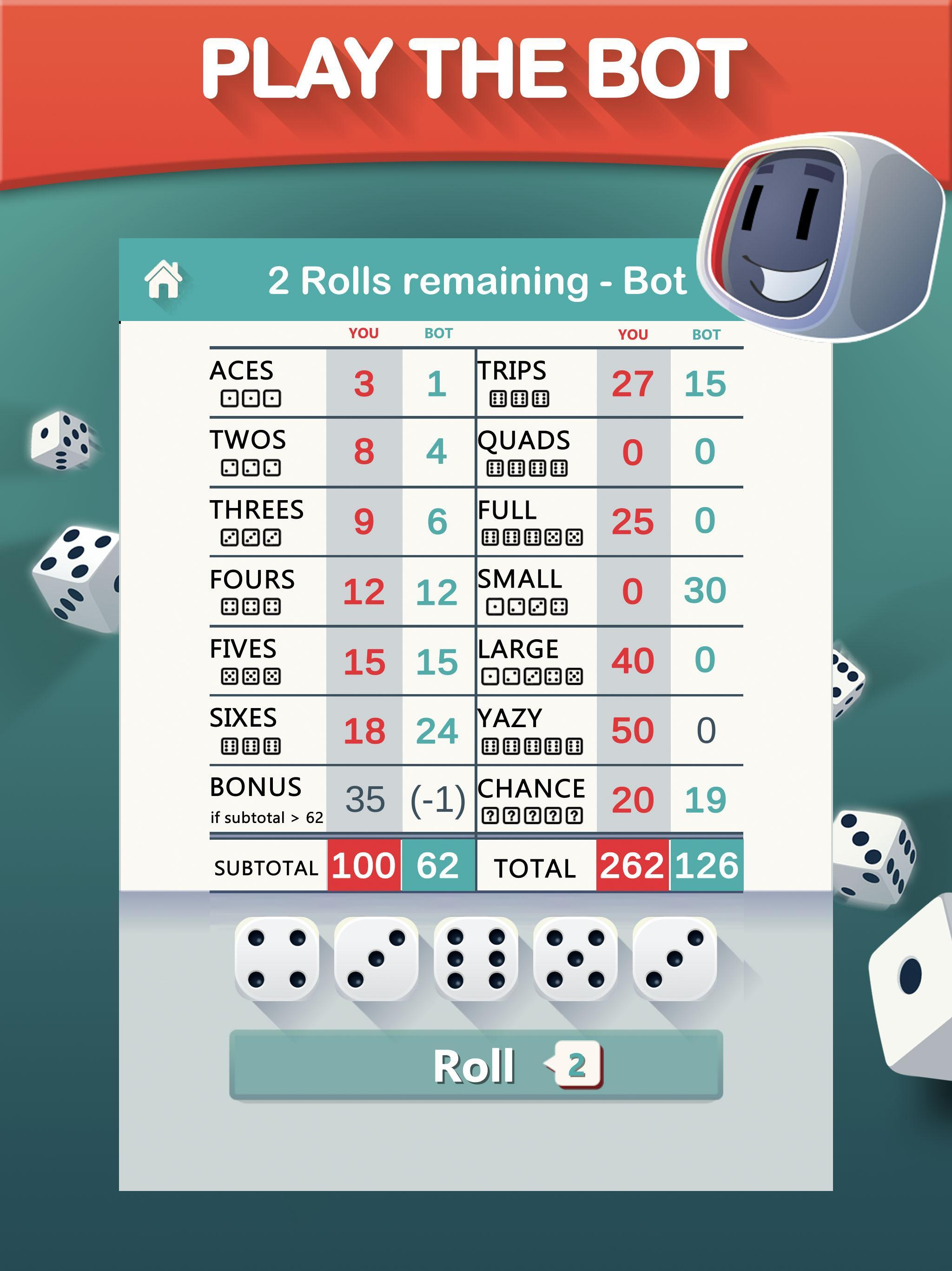 Yazy the best yatzy dice game 1.0.36 Screenshot 12