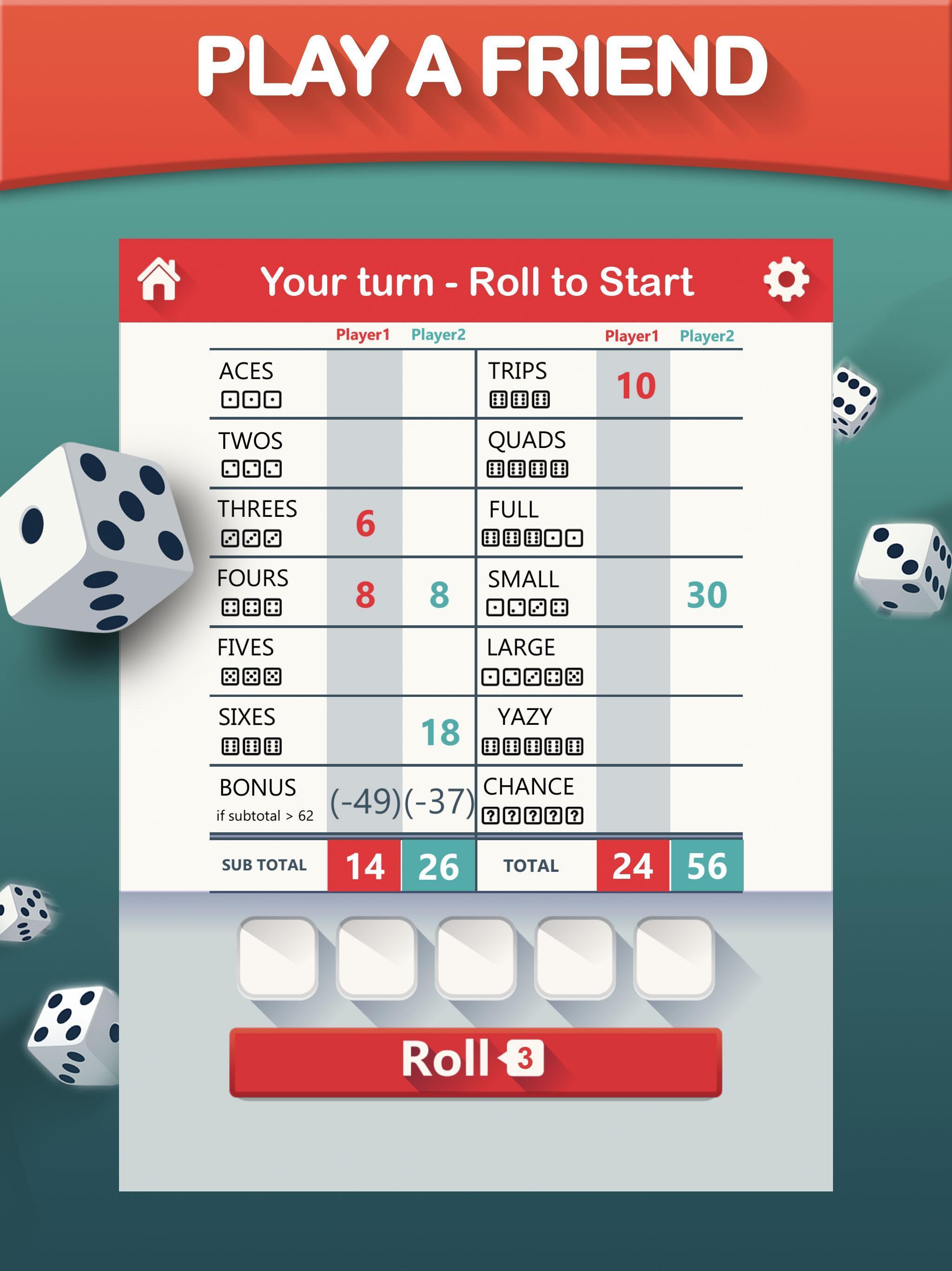 Yazy the best yatzy dice game 1.0.36 Screenshot 9