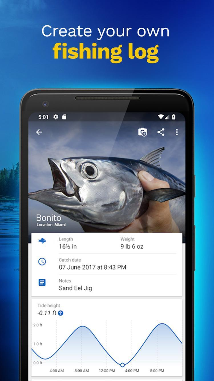 Fishing Points GPS, Tides & Fishing Forecast 2.9.6 Screenshot 2