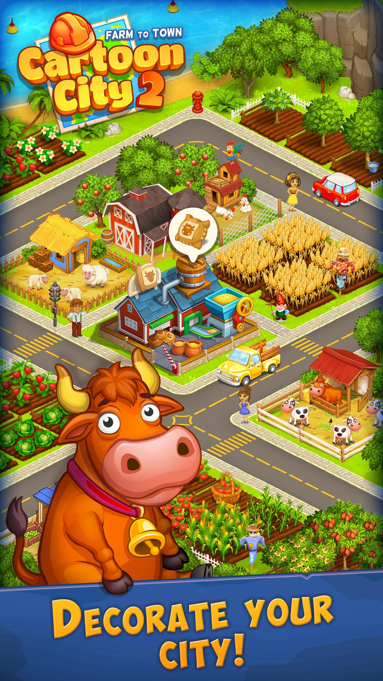 Cartoon City 2 Farm to Town.Build your home,house 1.78 Screenshot 15