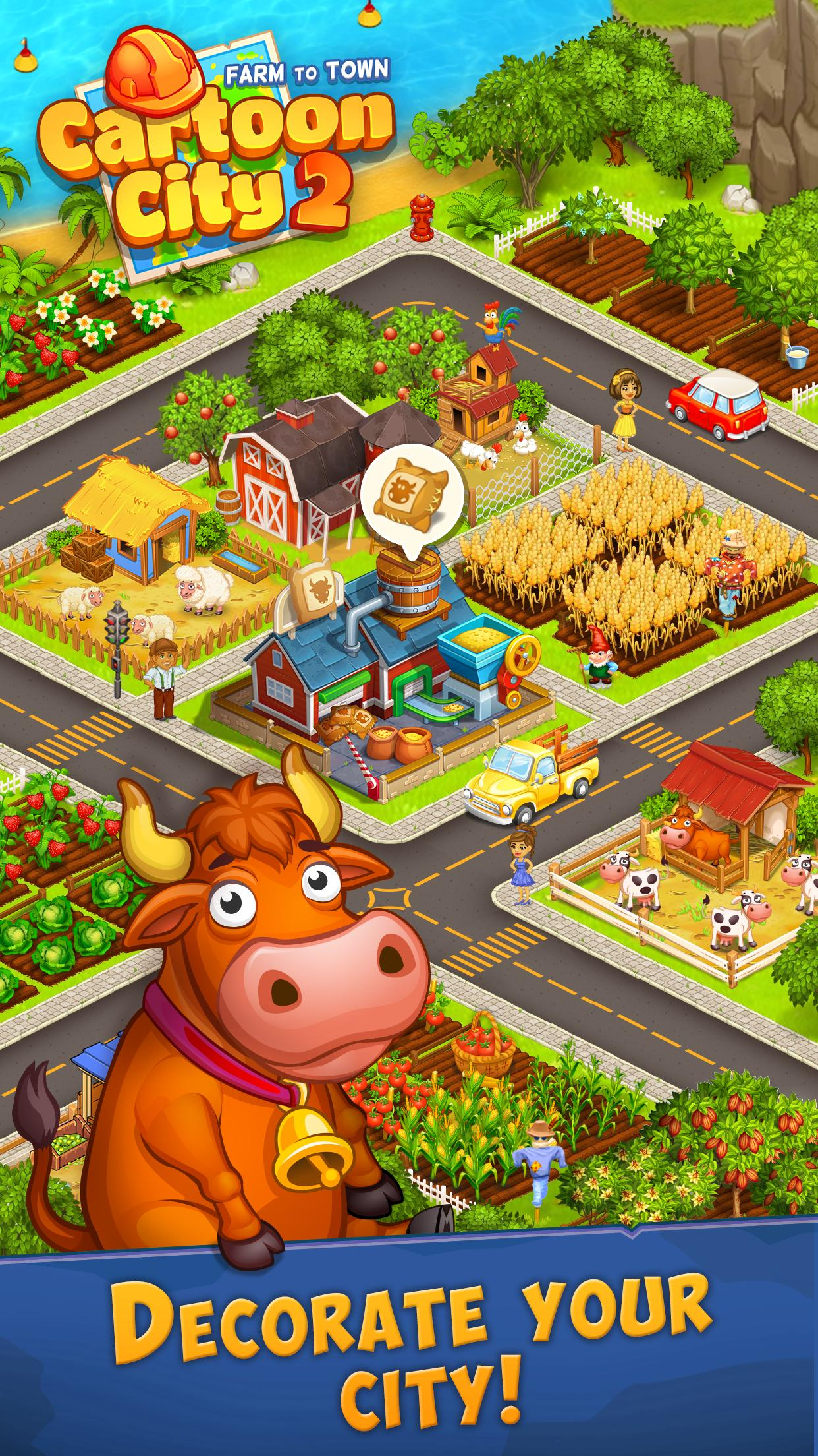 Cartoon City 2 Farm to Town.Build your home,house 1.78 Screenshot 6