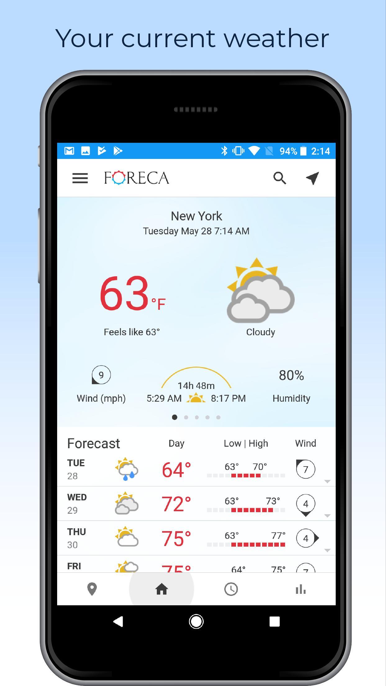Foreca Weather 4.9.12 Screenshot 1