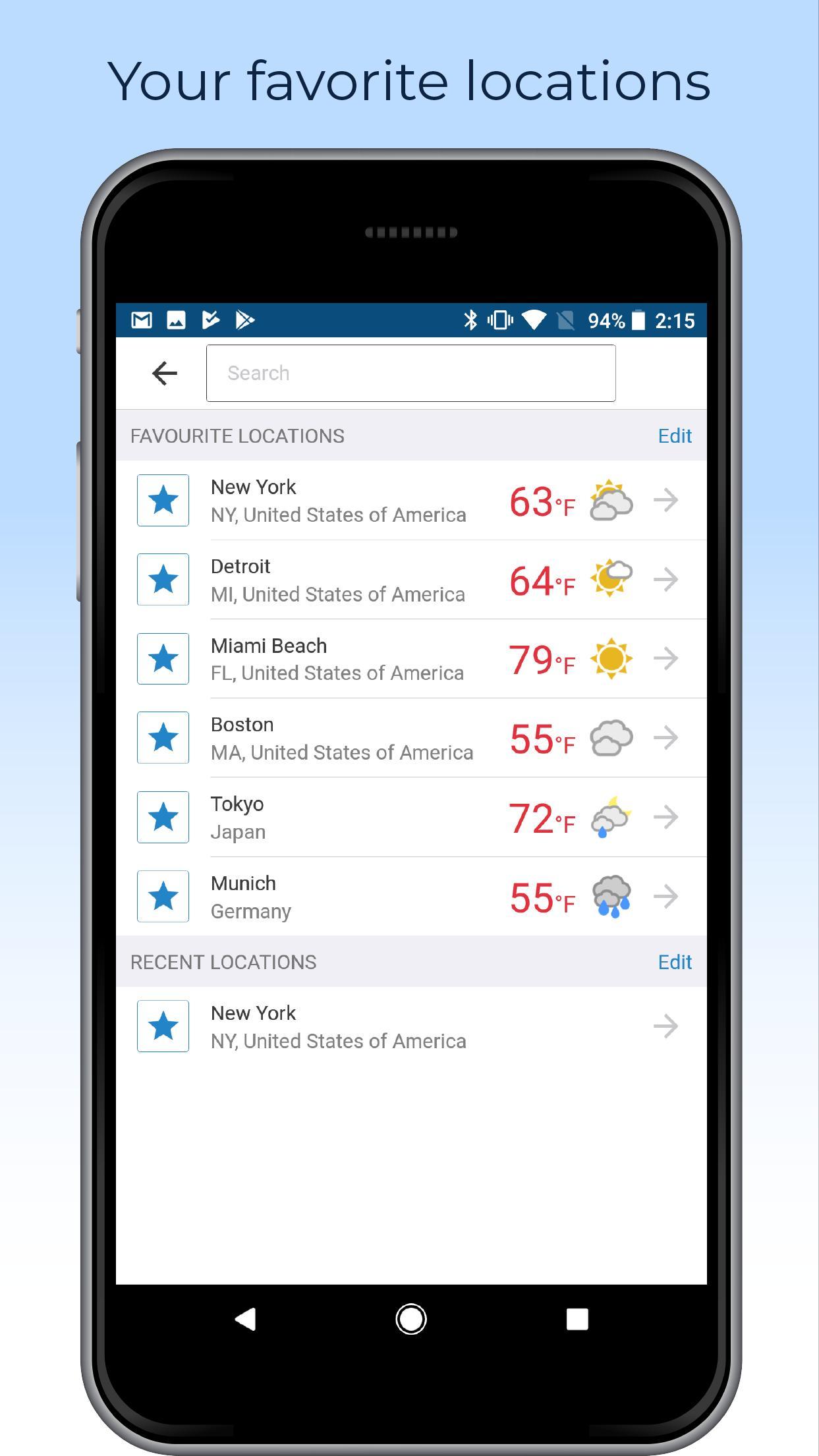 Foreca Weather 4.9.12 Screenshot 7
