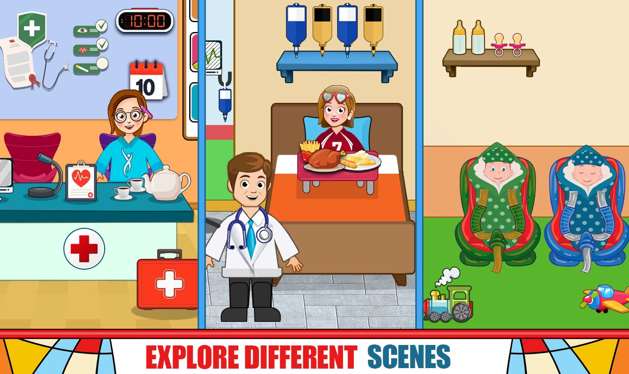 Pretend Hospital Doctor Care Games: My Town Life 1.0.7 Screenshot 1