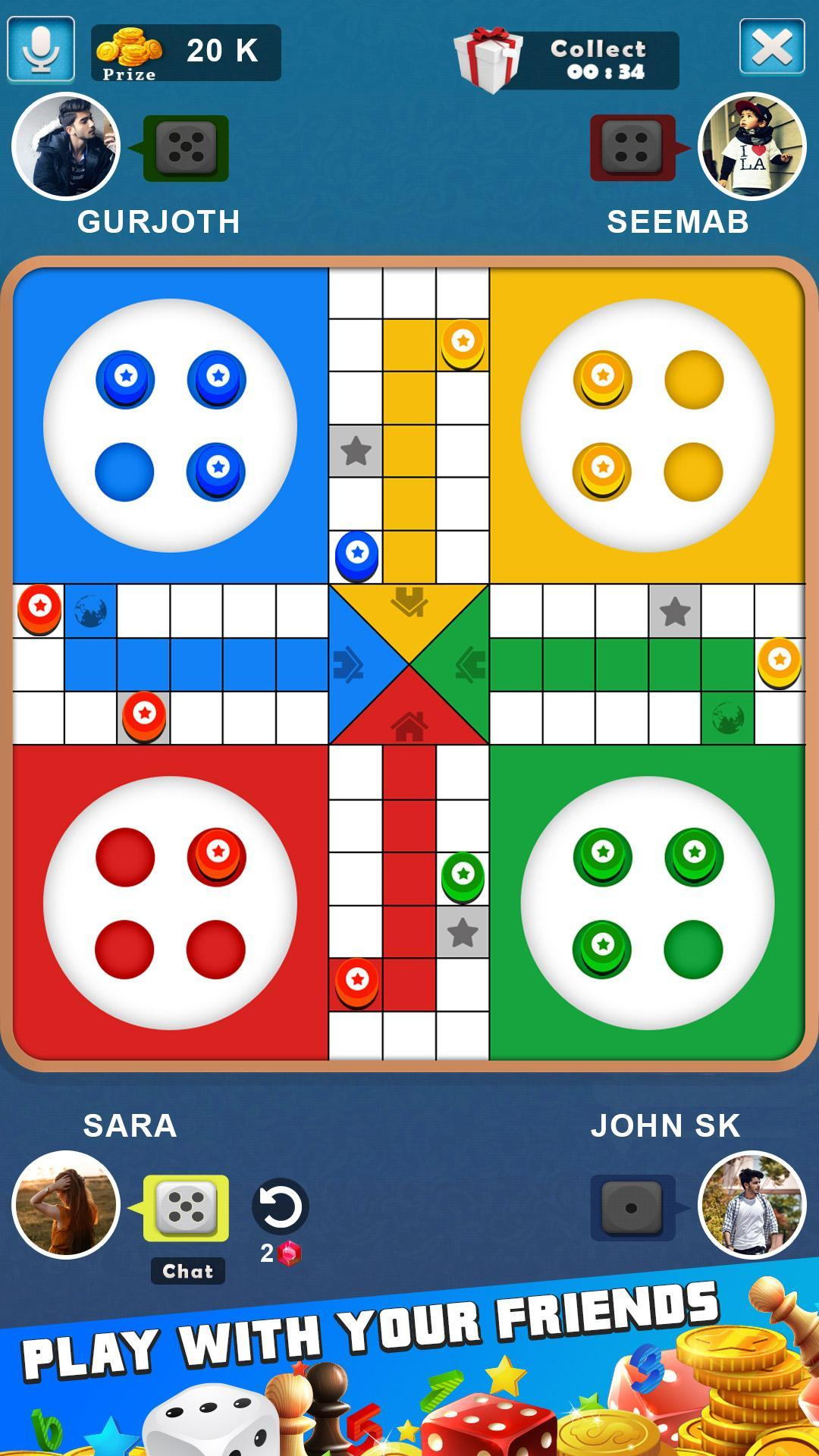 King of Ludo Dice Game with Free Voice Chat 2020 1.5.2 Screenshot 2