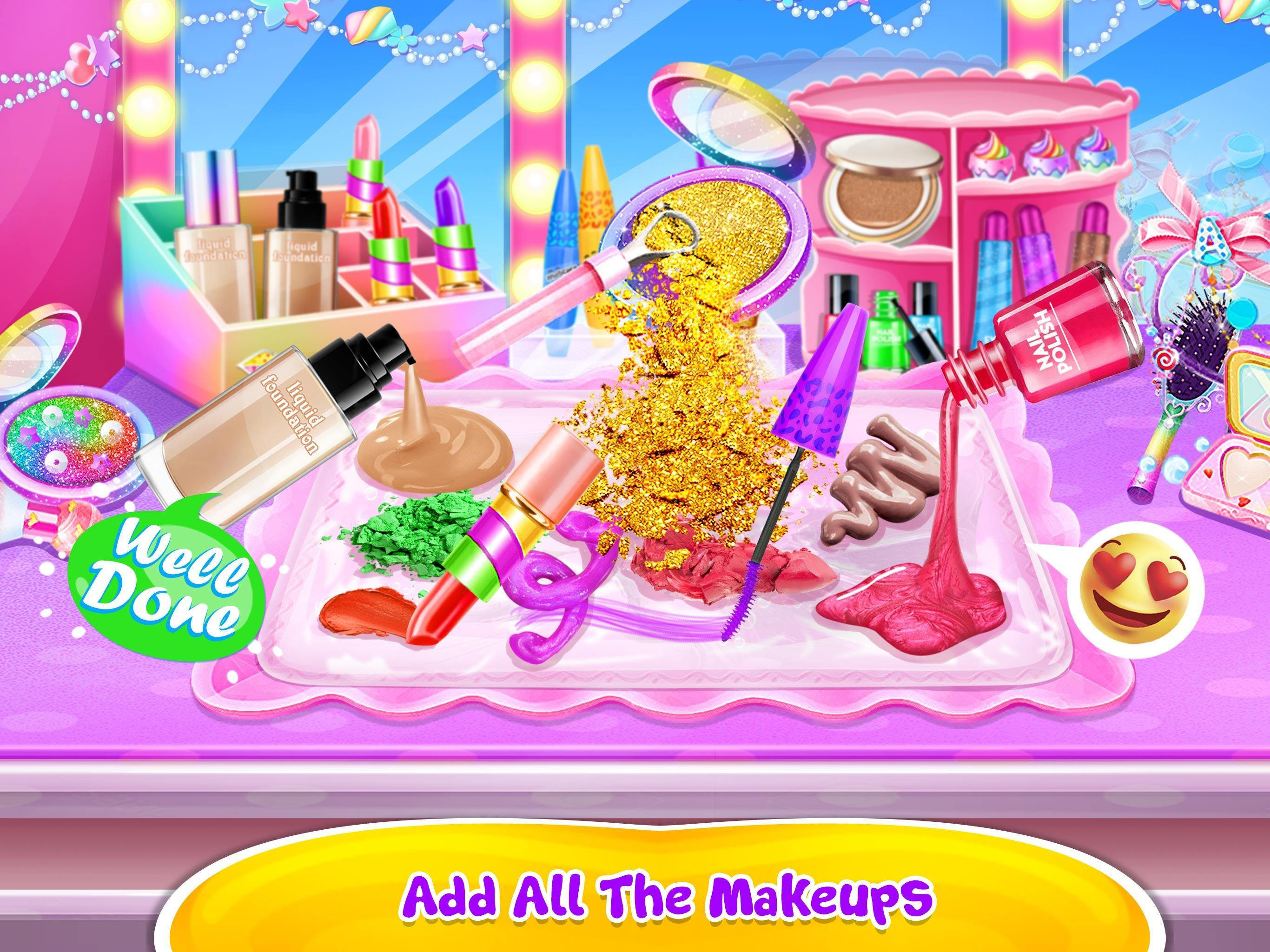 Make-up Slime - Girls Trendy Glitter Slime 1.8 Screenshot 1
