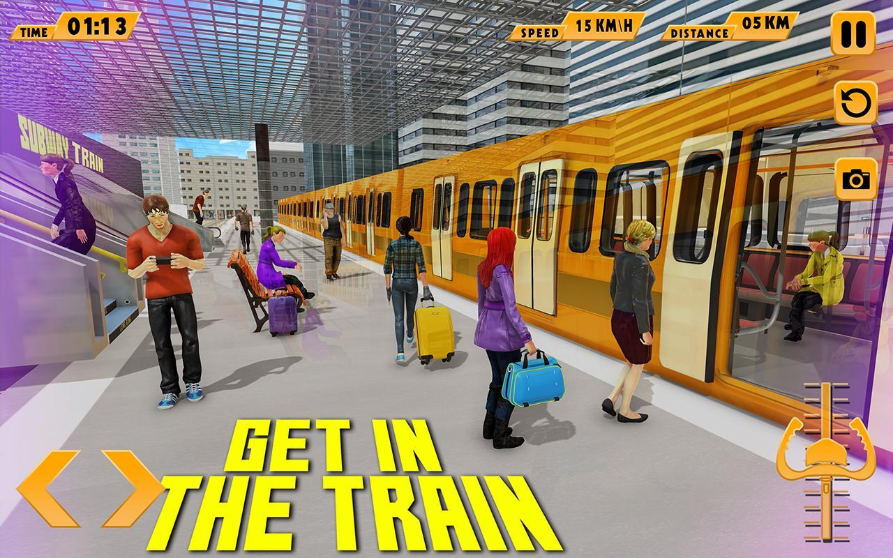 Modern Train Driving Simulator: City Train Games 2.6 Screenshot 1