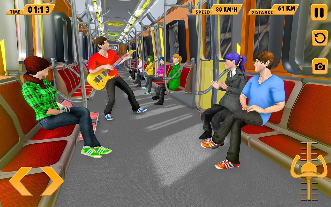 Modern Train Driving Simulator: City Train Games 2.6 Screenshot 2