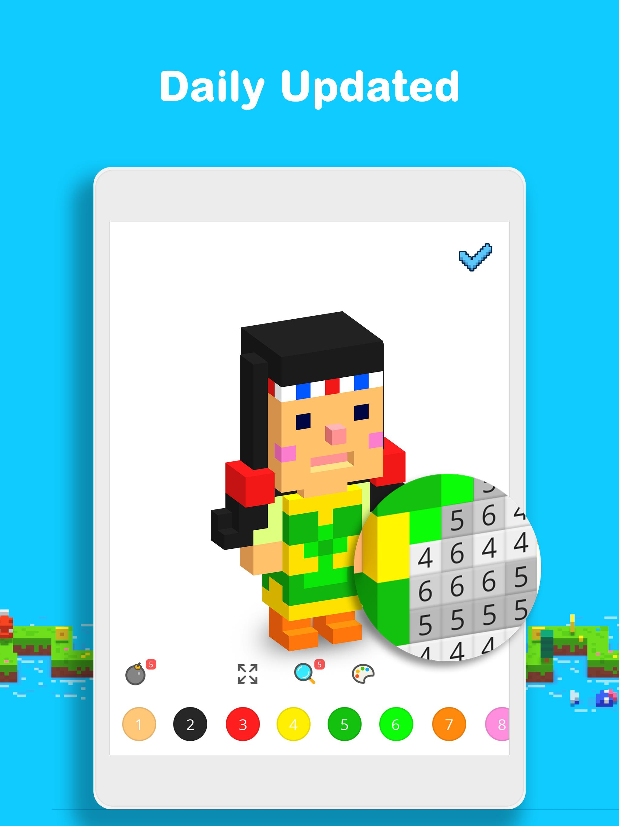 Voxel 3D Color by Number & Pixel Coloring Book 3.0.6 Screenshot 11