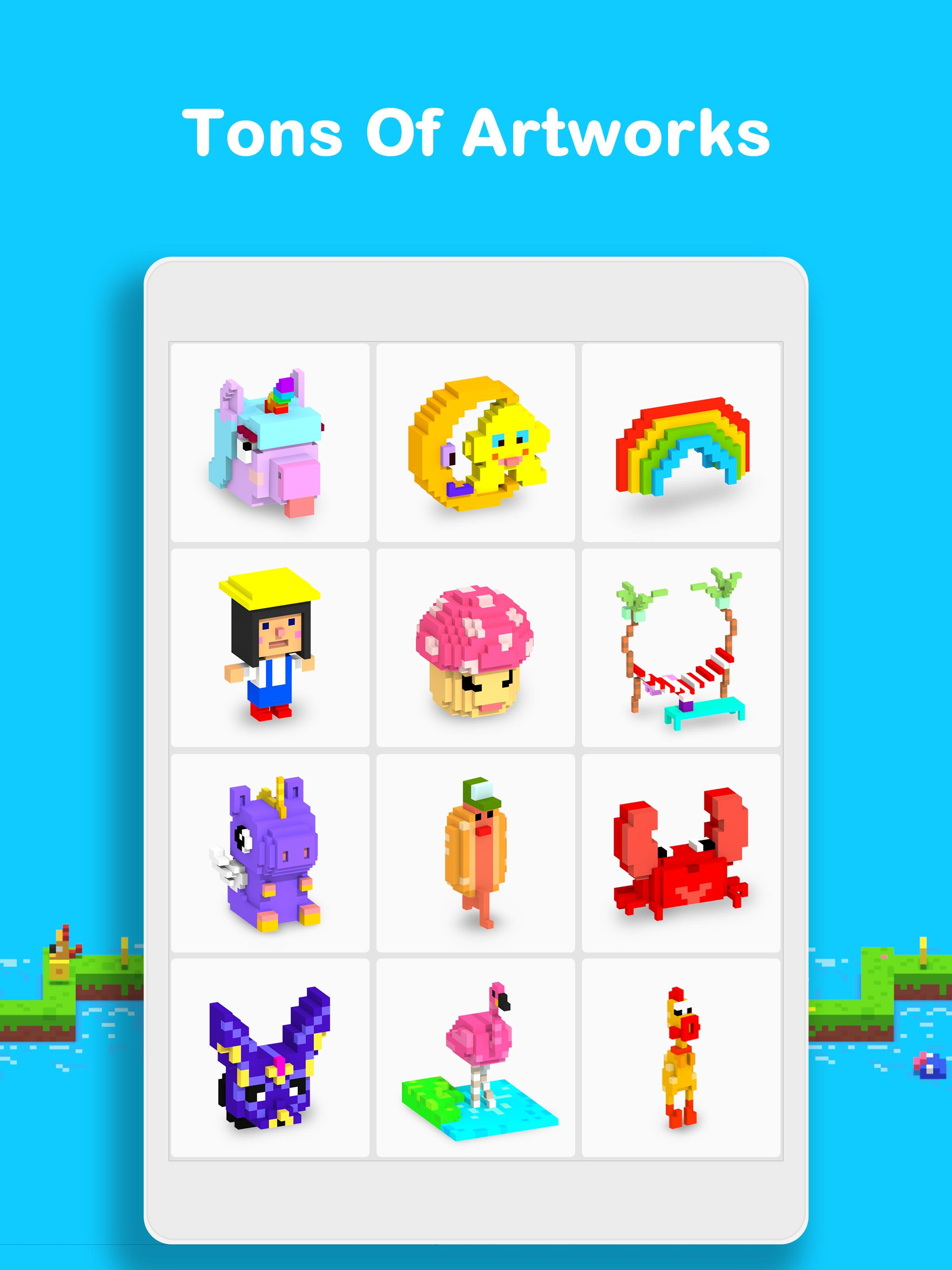 Voxel 3D Color by Number & Pixel Coloring Book 3.0.6 Screenshot 12