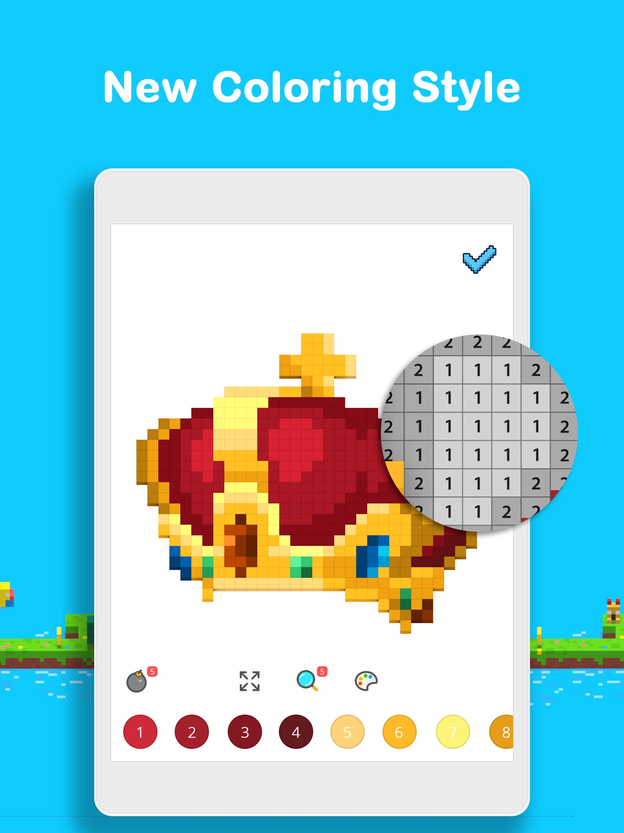Voxel 3D Color by Number & Pixel Coloring Book 3.0.6 Screenshot 15