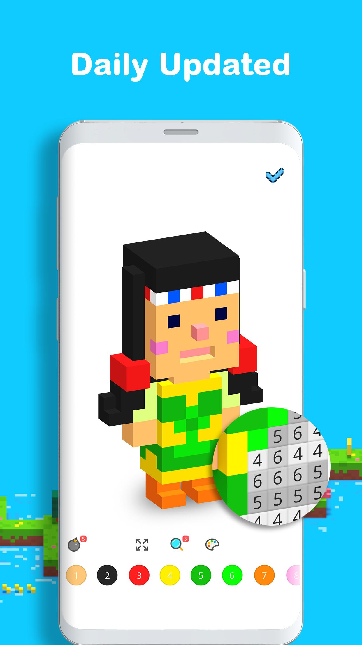Voxel 3D Color by Number & Pixel Coloring Book 3.0.6 Screenshot 4