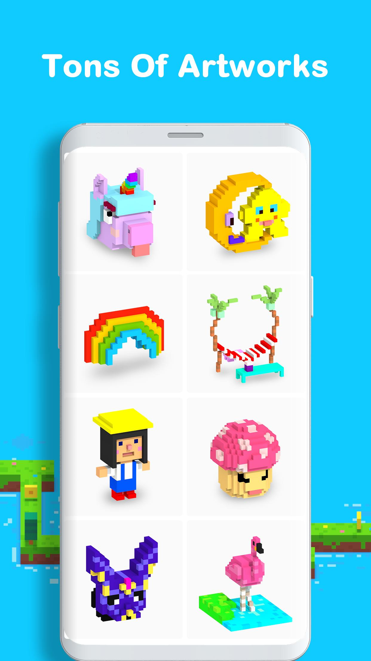 Voxel 3D Color by Number & Pixel Coloring Book 3.0.6 Screenshot 5