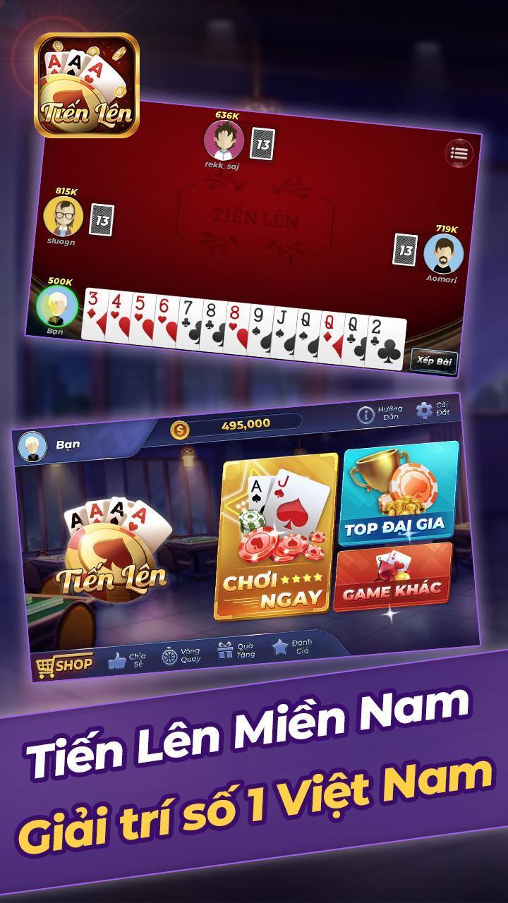 Tien Len Mien Nam Offline 1.11 Screenshot 1
