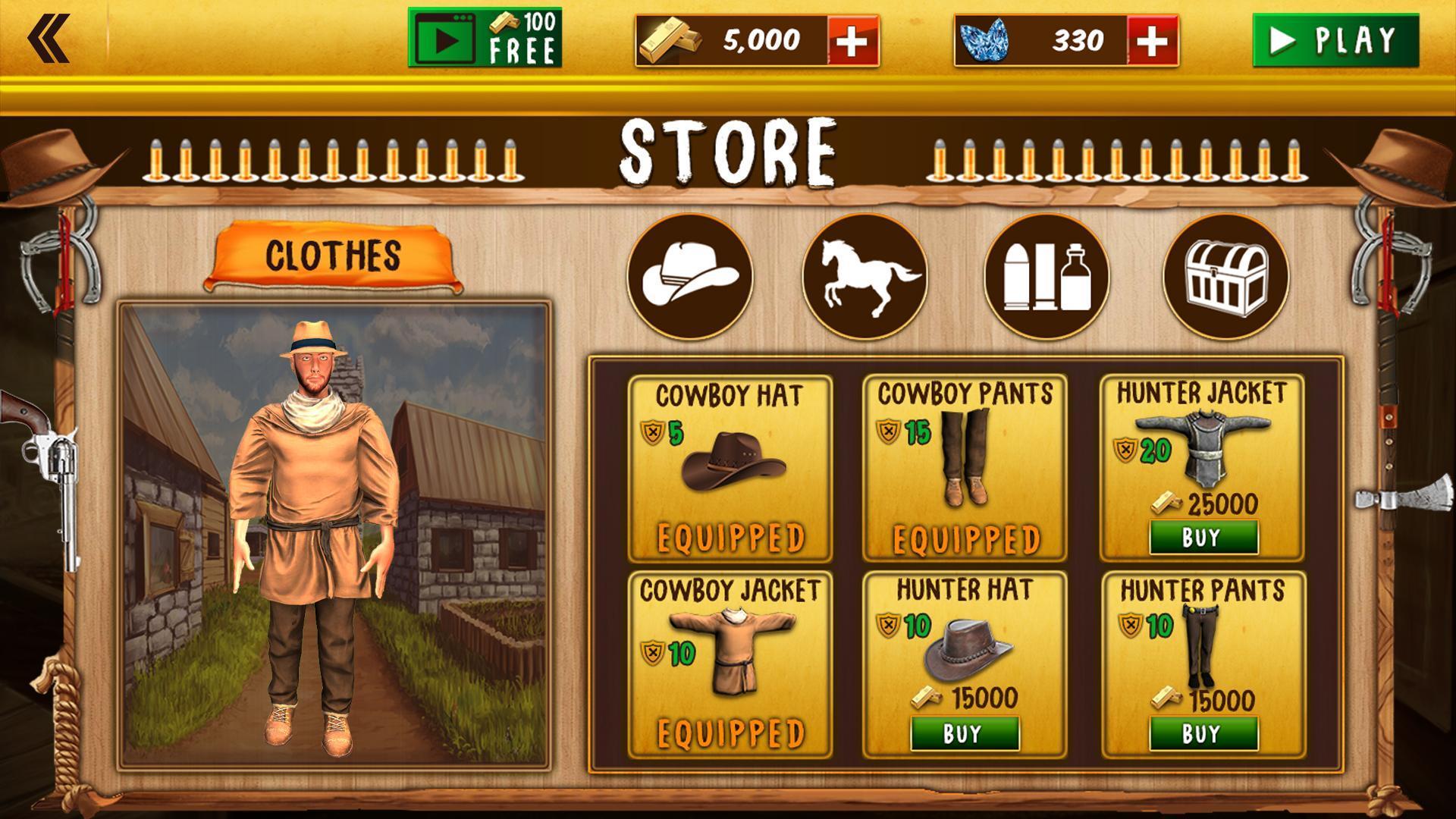 Western Cowboy Gun Shooting Fighter Open World 1.0.6 Screenshot 11