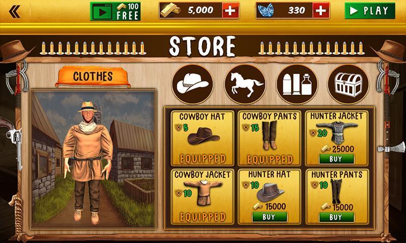 Western Cowboy Gun Shooting Fighter Open World 1.0.6 Screenshot 4