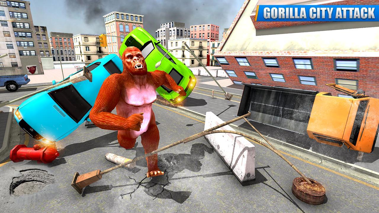 City Gorilla Destruction: New Gorilla Games 1.6 Screenshot 1
