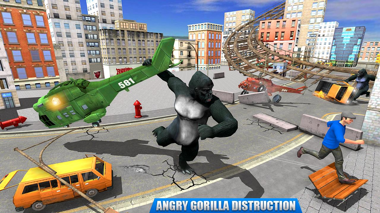 City Gorilla Destruction: New Gorilla Games 1.6 Screenshot 2