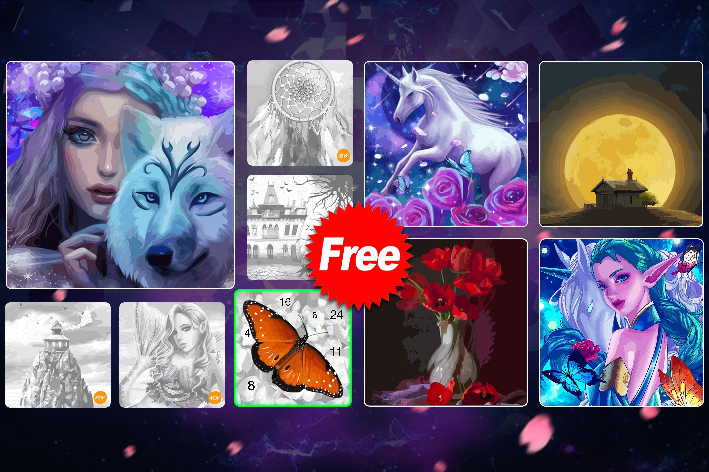 ColorPlanet Oil Painting Color by Number Free 1.2.3 Screenshot 15