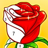 ColorPlanet Paint by Number, Free Puzzle Games app icon