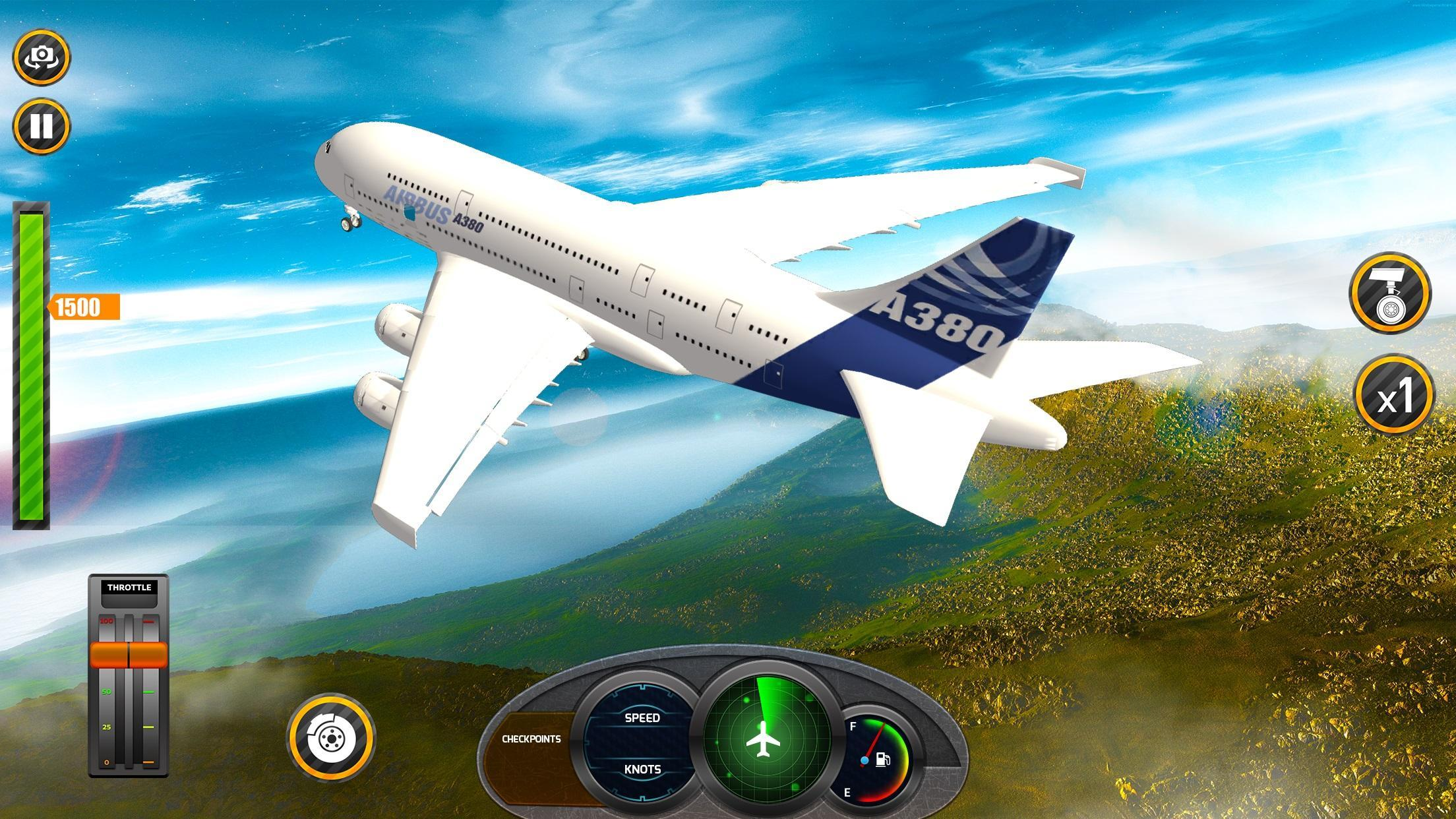 Airplane Real Flight Simulator 2020 Plane Games 5.4 Screenshot 1
