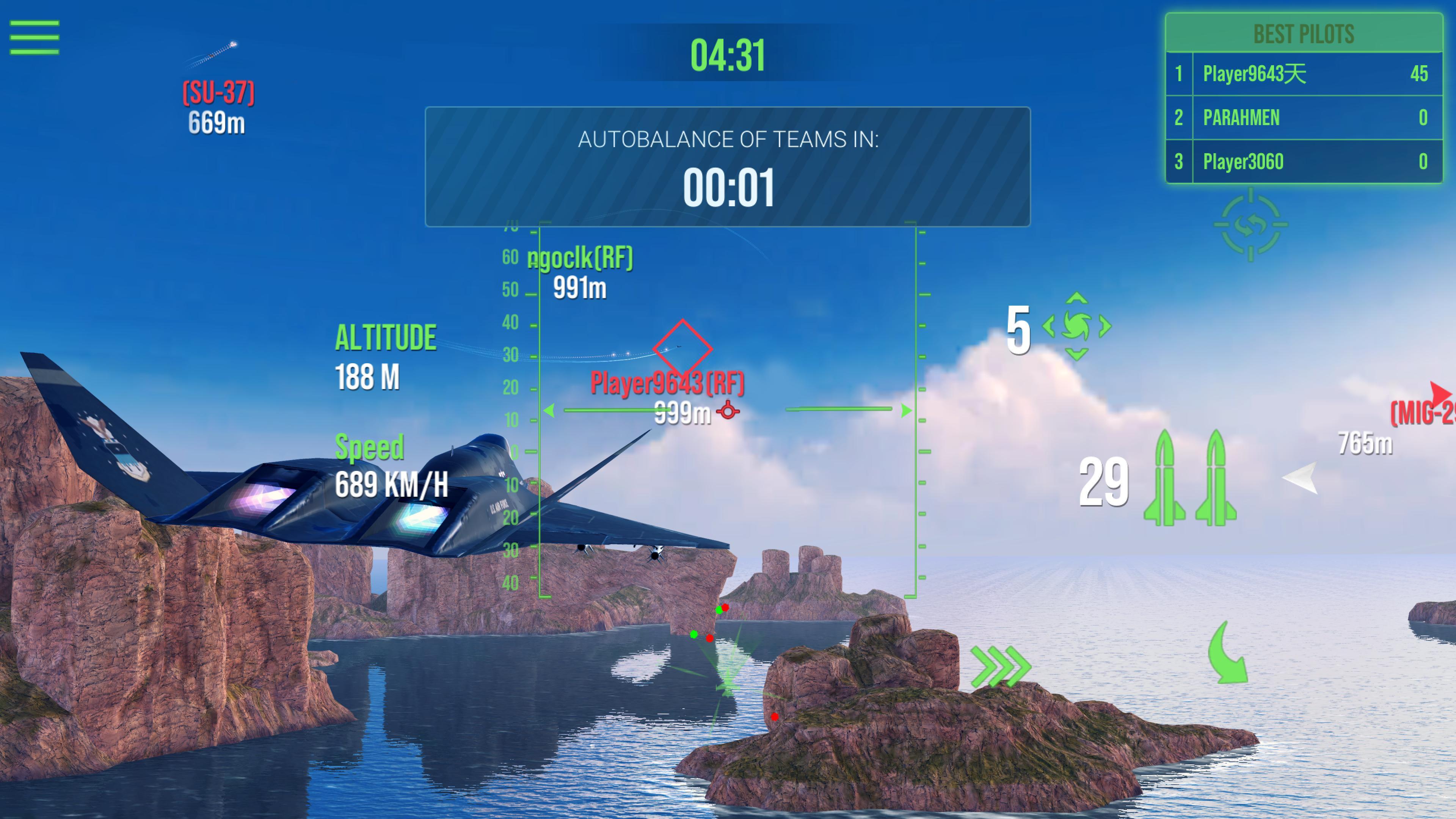 Modern Warplanes Sky fighters PvP Jet Warfare 1.14.0 Screenshot 6