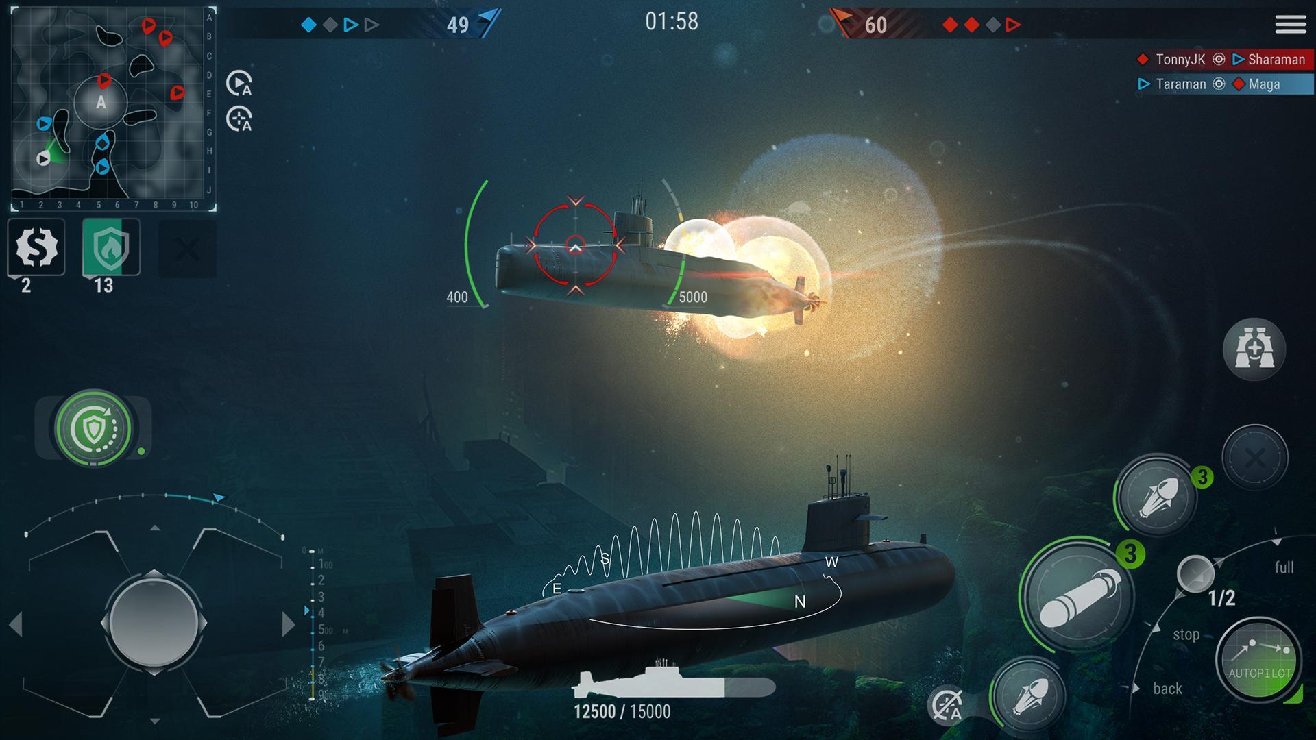 WORLD of SUBMARINES: Navy Shooter 3D Wargame 2.0.4 Screenshot 2